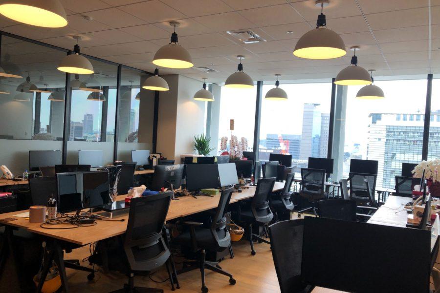 新しいオフィスの中の様子